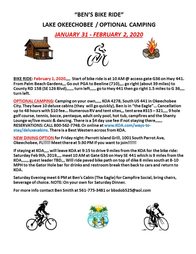 Palm Beach Yacht Club February Calendar 2020 Palm Beach Gator Snow Ski Club   All Events Calendar